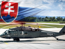 The CSG sends a Black Hawk helicopter to the GLOBSEC security forum