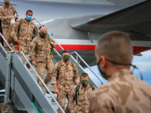 Members of the 13th Guard Company BAF have returned from Afghanistan