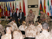 Minister of Foreign Affairs Tomáš Petříček visited soldiers in Afghanistan