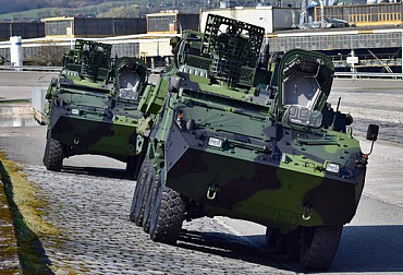 The Czech army is testing new special Pandur II armoured vehicles
