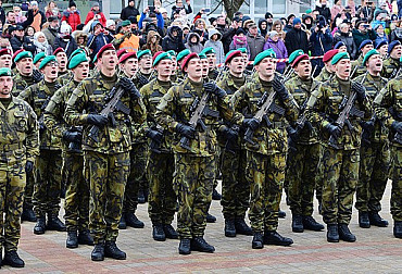 400 army rookies pledged allegiance to the Czech Republic