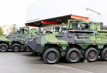 Soldiers from Žatec received new Pandur vehicles