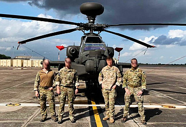 Czech JTACs navigated an AH-64 Apache helicopter to the target in the U.S.A.