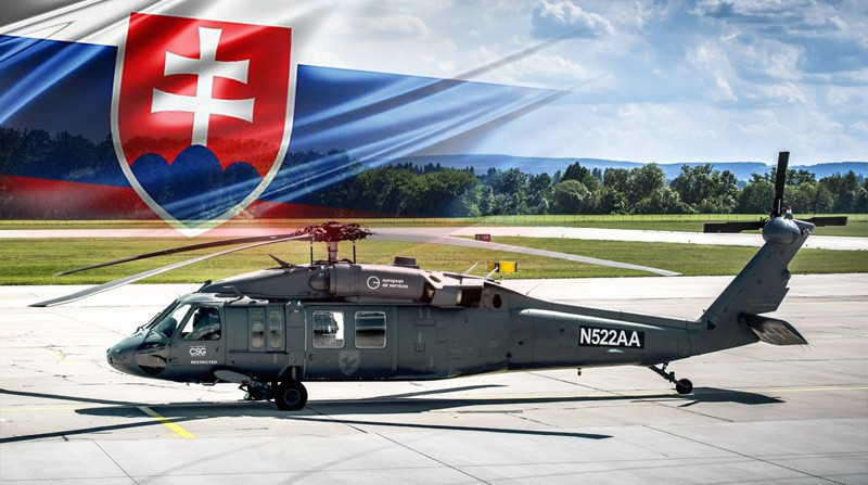 The CSG sends a Black Hawk helicopter to the GLOBSEC